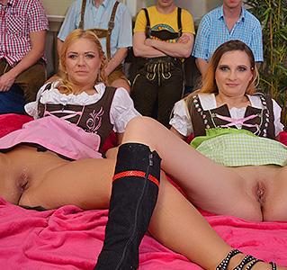 wild german gangbang party
